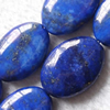 Gemstone beads, natural lapis, oval, 20x15x6mm, Sold by KG