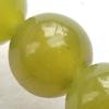 Gemstone beads, lemon jade, round, 4mm, Sold per 16-inch Strand