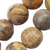 Gemstone beads, leopard skin, round, 12mm, Sold per 16-inch Strand