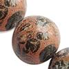 Gemstone beads, leopard skin, round, 10mm, Sold per 16-inch Strand