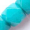 Gemstone beads, malai jade(dye), octagon, 13x14mm, Sold per 15-inch Strand