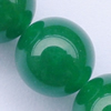 Gemstone beads, malai jade(dye), round, A grade, 12mm, Sold per 16-inch Strand