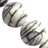 Gemstone beads, meshy stone, round, 8mm, Sold per 16-inch Strand