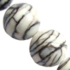 Gemstone beads, meshy stone, round, 6mm, Sold per 16-inch Strand