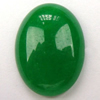 Gemstone cabochons, white jade(dye), not drilled oval, AA grade, 12x13mm, Sold by PC