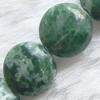 Gemstone beads, qinghai jade, coin, 10x10mm, Sold per 16-inch Strand