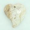 Gemstone pendant, pictuer jasper, heart, 43x50x7mm, Sold by PC