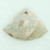 Gemstone pendant, pictuer jasper, fan, 47x35x6mm, Sold by PC