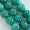 Gemstone beads, amazonite, round, 10mm, Sold per 16-inch Strand