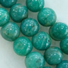 Gemstone beads, amazonite, round, 4mm, Sold per 16-inch Strand
