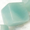 Gemstone beads, Chinese amazonite(solid color), corner diamond cube, 8mm, Sold per 16-inch Strand