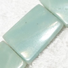 Gemstone beads, Chinese amazonite(solid color), twist rectangle, 25x30mm, Sold per 16-inch Strand