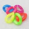 Acrylic Chains, Fashion jewelry chains, Mixed Color, 17x23mm, Sold by Bag