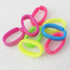 Acrylic Chains, Fashion jewelry chains, Mixed Color, Link's size:15x24mm, Sold by Bag