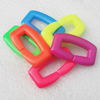 Acrylic Chains, Fashion jewelry chains, Mixed Color, Link's size:22x40mm, Sold by Bag
