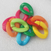 Acrylic Chains, Fashion jewelry chains, Mixed Color, Link's size:20x29mm, Sold by Bag