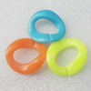 Acrylic Chains, Fashion jewelry chains, Mixed Color, Link's size:32x30mm, Sold by Bag