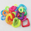 Acrylic Chains, Fashion jewelry chains, Mixed Color & Mixed style, Link's size:10x20mm-22x40mm, Sold by Bag