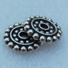 Spacer, Fashion Zinc Alloy Jewelry Findings, Lead-free, 13x13mm, Sold by Bag