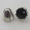 Beads Caps. Fashion CCB plastic Jewelry findings. 16x17mm. Inner Dia:14mm. Sold by Bag
