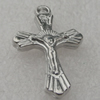 Pendant/Charm. Fashion CCB plastic Jewelry findings. Cross 28x17mm. Sold by Bag