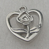 Pendant/Charm. Fashion CCB plastic Jewelry findings. Heart 15x18mm. Sold by Bag