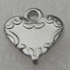 Pendant/Charm. Fashion CCB plastic Jewelry findings. Heart 12x13mm. Sold by Bag