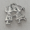 Pendant/Charm. Fashion CCB plastic Jewelry findings. 22x15mm. Sold by Bag