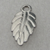Pendant/Charm. Fashion CCB plastic Jewelry findings. Leaf 19x9mm. Sold by Bag
