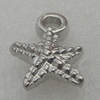 Pendant/Charm. Fashion CCB Plastic jewelry findings. Star 15x17mm. Sold by Bag
