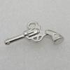 Pendant/Charm. Fashion CCB Plastic jewelry findings. Gun 21x14mm. Sold by Bag