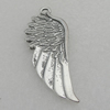 Pendant/Charm. Fashion CCB Plastic jewelry findings. Wings 58x22mm. Sold by Bag