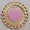 Iron Enamel Cabochons. Fashion jewelry findings. Lead-free. 40mm Sold by Bag