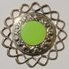 Iron Enamel Cabochons. Fashion jewelry findings. Lead-free. 50mm Sold by Bag