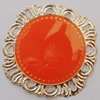 Iron Enamel Cabochons. Fashion jewelry findings. Lead-free. 41x44mm Sold by Bag