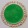 Iron Enamel Cabochons. Fashion jewelry findings. Lead-free. 51mm Sold by Bag