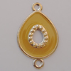 Iron Enamel Connector. Fashion Jewelry findings. Lead-free. Teardrop 39x24mm Sold by Bag