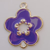 Iron Enamel Connector. Fashion Jewelry findings. Lead-free. Flower 39x33mm Sold by Bag