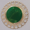 Iron Enamel Cabochons. Fashion jewelry findings. Lead-free. 34mm Sold by Bag