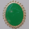 Iron Enamel Cabochons. Fashion jewelry findings. Lead-free. 34x27mm Sold by Bag
