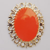 Iron Enamel Cabochons. Fashion jewelry findings. Lead-free. 37x29mm Sold by Bag
