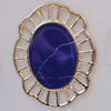 Iron Enamel Cabochons. Fashion jewelry findings. Lead-free. 42x33mm Sold by Bag