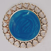 Iron Enamel Cabochons. Fashion jewelry findings. Lead-free. 38mm Sold by Bag