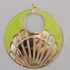 Iron Enamel Pendant. Fashion Jewelry findings. Lead-free. 58mm Sold by Bag