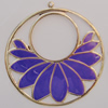 Iron Enamel Pendant. Fashion Jewelry findings. Lead-free. 64mm Sold by Bag