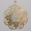 Iron Enamel Pendant. Fashion Jewelry findings. Lead-free. Flower 55x64mm Sold by Bag