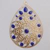 Iron Enamel Pendant. Fashion Jewelry findings. Lead-free. Teardrop 57x80mm Sold by Bag