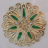 Iron Enamel Cabochons. Fashion jewelry findings. Lead-free. 49mm Sold by Bag
