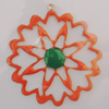 Iron Enamel Pendant. Fashion Jewelry findings. Lead-free. 47mm Sold by Bag