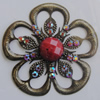 Iron Connector With Resin Beads. Fashion jewelry findings. Lead-free. Flower 52mm Sold by Bag